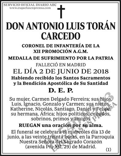 Antonio Luis Torán Carcedo